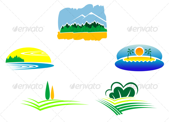 GraphicRiver Nature icons 64999