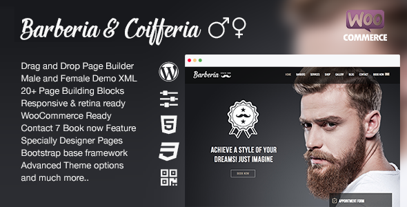 Download Barberia | Barber & Hair Salon Responsive WordPress Theme  nulled download