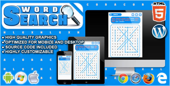 Download Word Search - HTML5 Word Game  nulled download