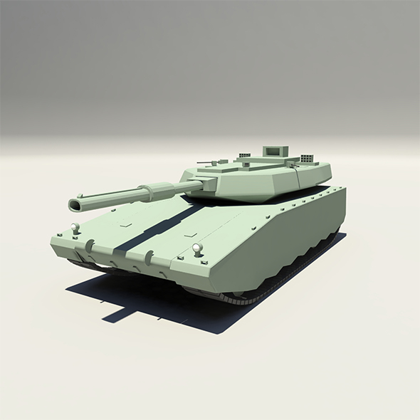 Lowpoly Tank - 3DOcean Item for Sale