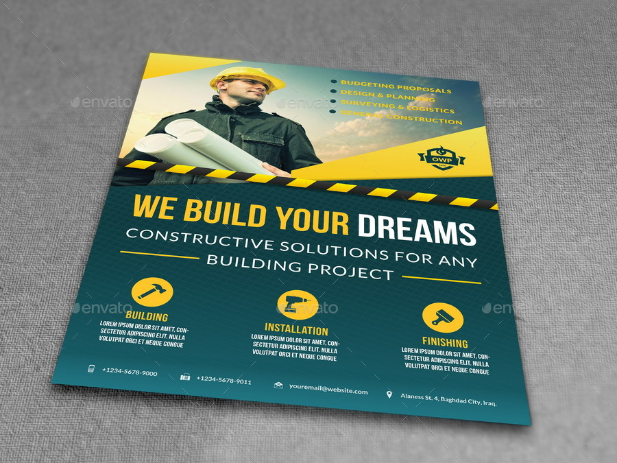 construction business flyer templates construction business flyer