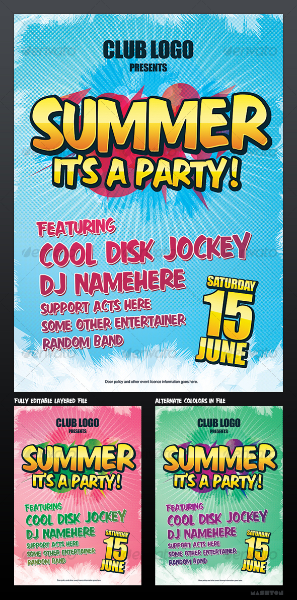 GraphicRiver Summer Party Nightclub Poster 65022