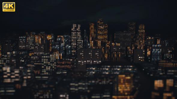 Night kaupunki lentää läpi - Corporate Taustat Motion Graphics