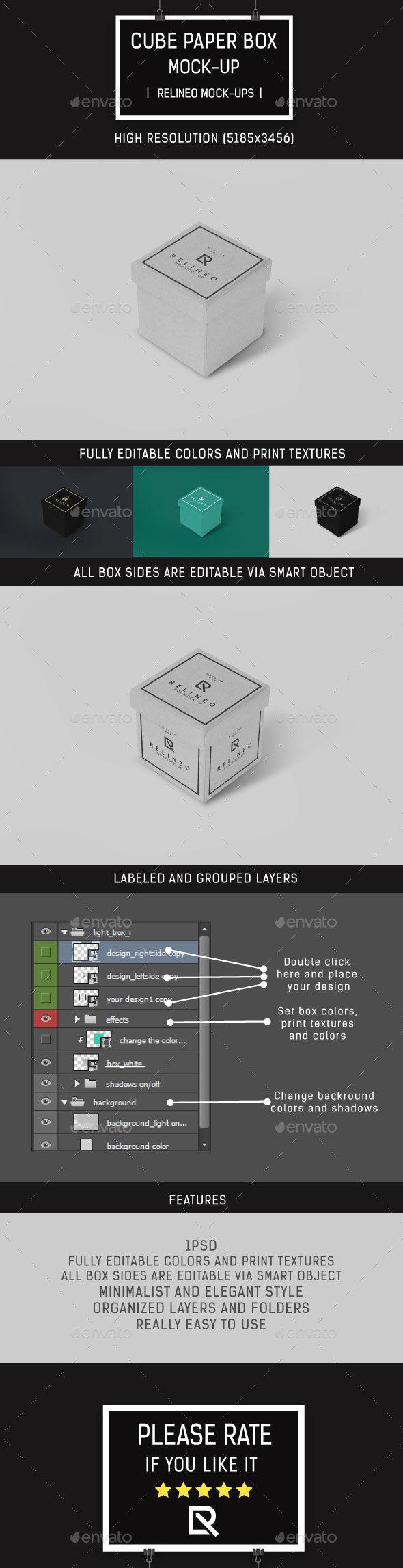 Cube Box Mock-up