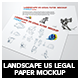 Landscape Us Legal Flyer Mockup