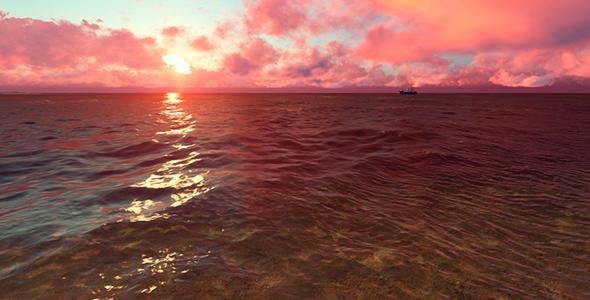 Taustaa muodossa Evening Sunset - 3D, Object Taustat Motion Graphics