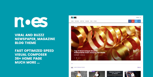 Noes - Buzz & Viral Newspaper, Magazine, Blog WordPress Theme