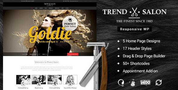 Trend Salon - Haircut, Hair Salon & Hairdresser Theme