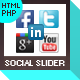 Facebook Likebox/Twitter Slider