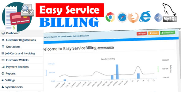 Download EasyService Billing - PHP Scripts for Quotation, Invoice, Payments etc.