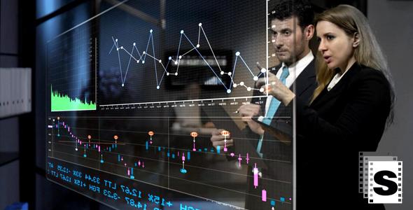 Data Screen - Business, Corporate Arkistofilmit