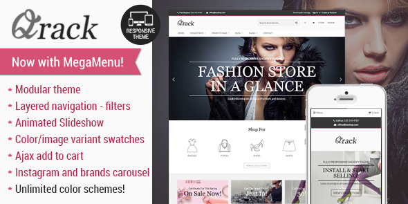 Qrack - Responsive Shopify Theme