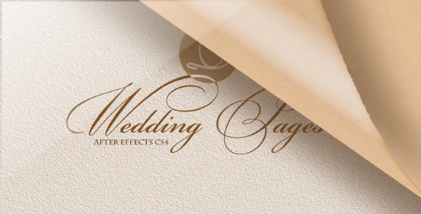 After Effects Project - VideoHive Wedding Pages 1666533