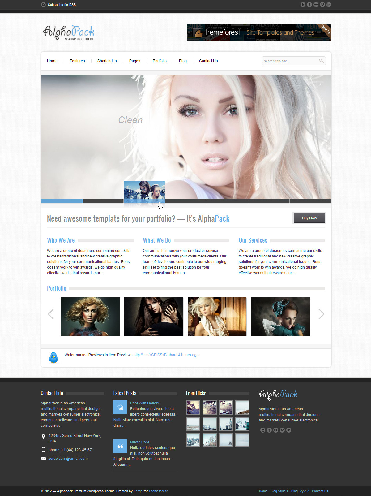 Alphapack - Premium WordPress Theme - Home Page