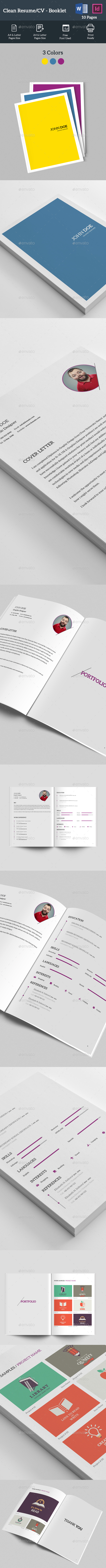 Clean Resume - CV Booklet
