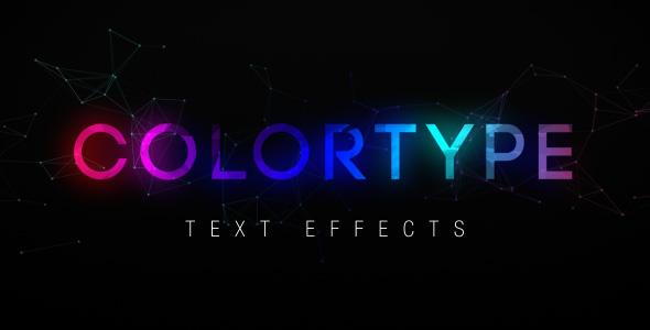 ColorType Tekstitehosteet - Muut osastot After Effects Project Files