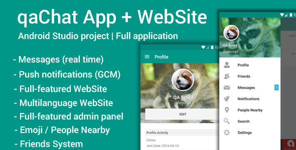 Download qaChat (App and Website) nulled download