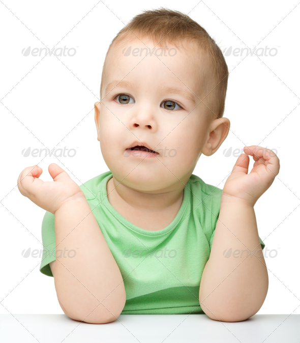 Cute little boy - Stock Photo - Images