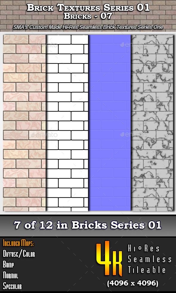 3DOcean Hi-Res Texture Bricks-07 of Brick Textures S01 16698398