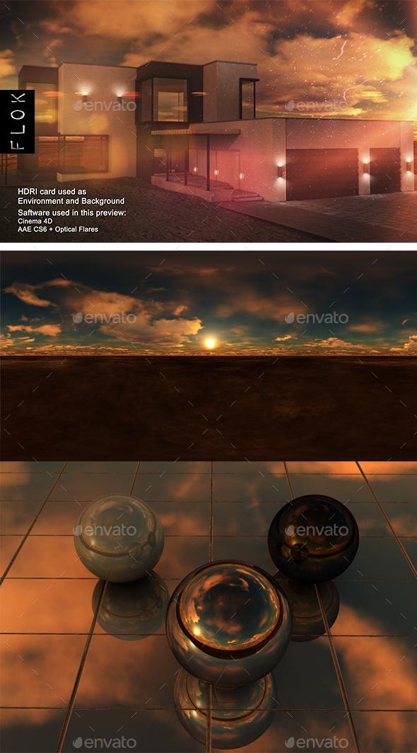 Sunset Desert 59 - 3DOcean Item for Sale
