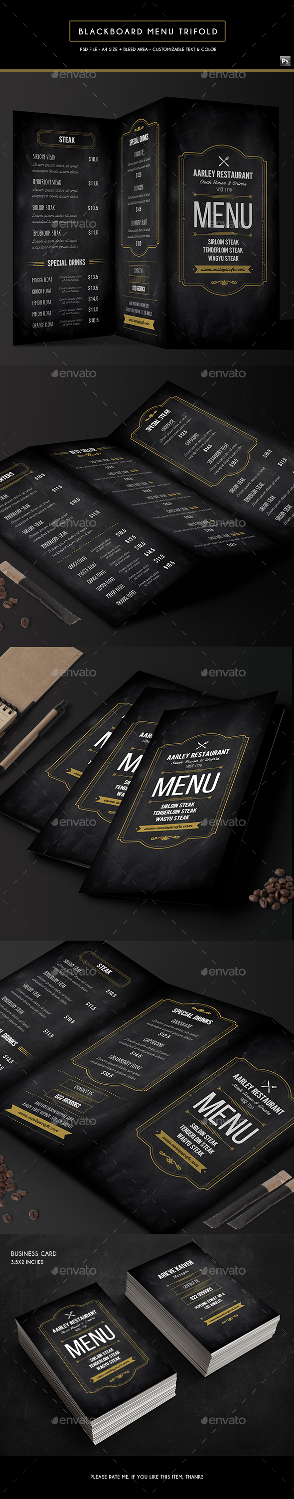 Business card restaurant menu menu templates from graphicriver flashek Choice Image