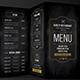 Blackboard Food Menu (Trifold) + Business Card