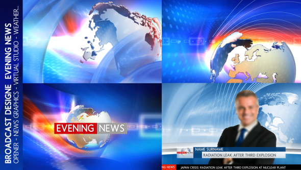 Broadcast Design Evening News