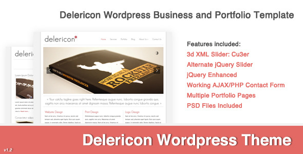 Delericon Business/Portfolio Template Wordpress