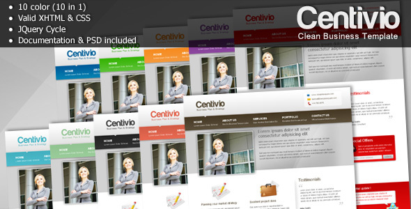 Centivio - Clean Business Template - 10 in 1 - Business Corporate