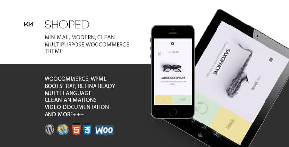 Shoped - Multipurpose, Minimal WooCommerce Theme