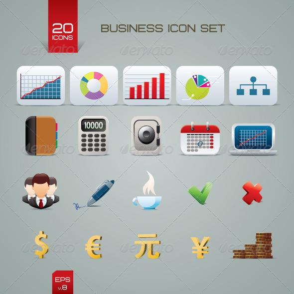 GraphicRiver Business Icon Set 1667409