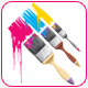 Coloring brushes