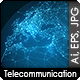 Abstract Telecommunication Earth Map Concept