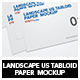 Landscape Us Tabloid Flyer  Mockup