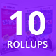 Bundle of 10 Multipurpose Business Rollup Banners