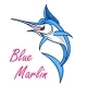 Atlantic Blue Marlin Symbol for Mascot Design