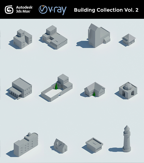 Building collection Vol. 2 - 3DOcean Item for Sale