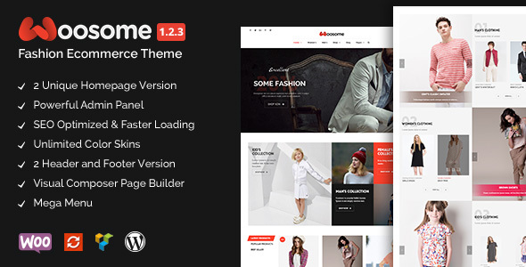Фото Wordpress Template  Woosome - Fashion & Lifestyle WooCommerce WordPress Theme — woosome preview.  large preview
