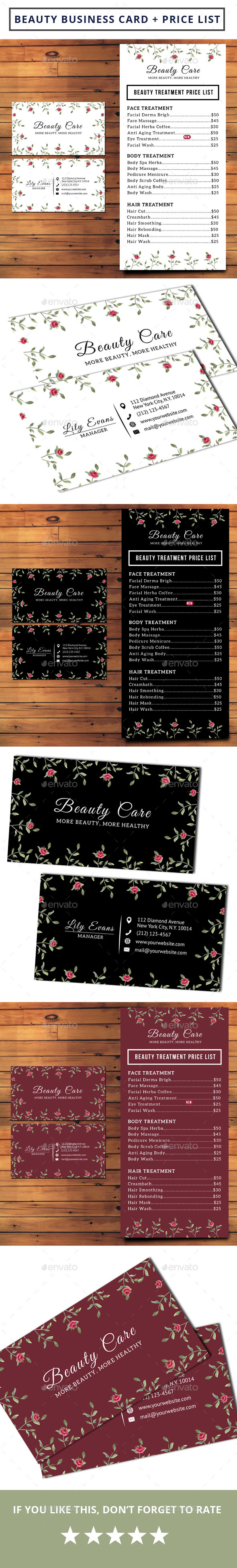 Beauty Business Card Graphics, Designs & Templates