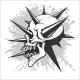 Skull Tattoo and Tribal Design