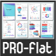 Pro Flat Infographic Brochure. Set 4
