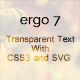 Transparent Text With CSS3 and SVG (Sliders) Download