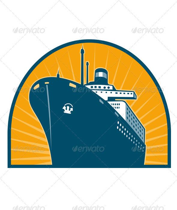Passenger Ship Boat Ocean Liner Retro