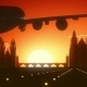 Prague Czech Republic Skyline Sunrise Landing