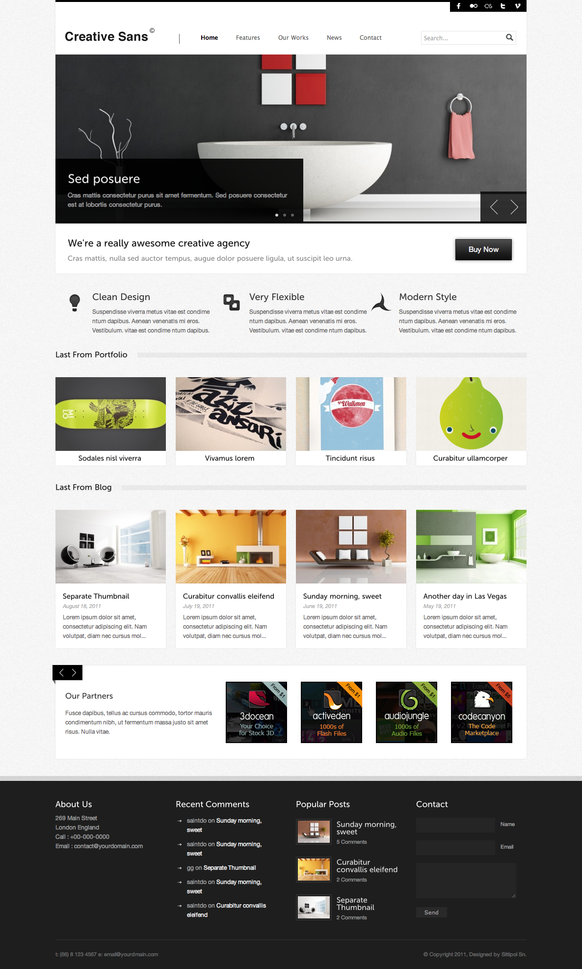 CreativeSans - Agency WP Theme - homepage