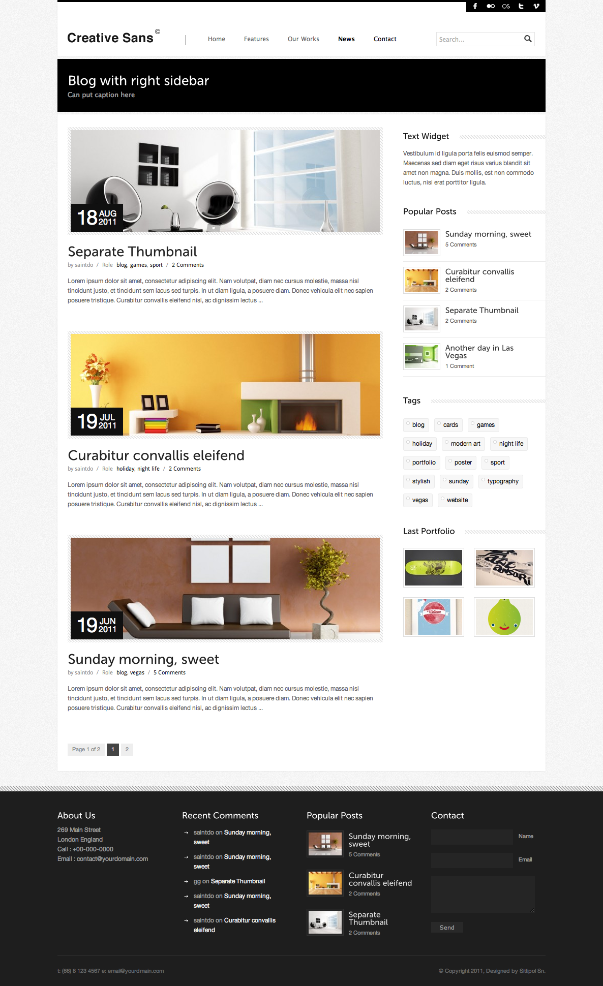 CreativeSans - Agency WP Theme - blog