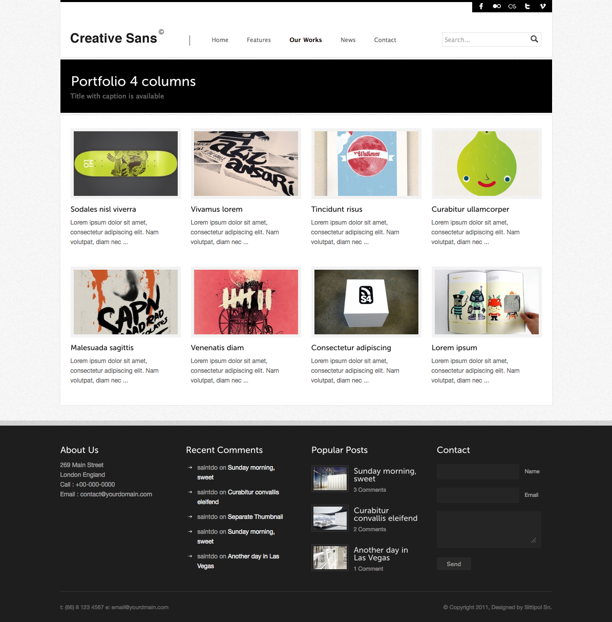 CreativeSans - Agency WP Theme - portfolio