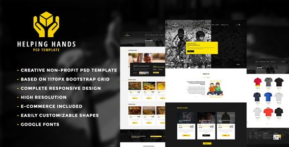 Helping Hands - Multipurpose Non-profit PSD Template