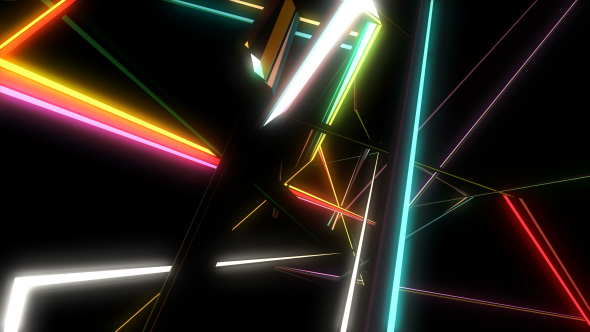 Polygonal vilkuille VJ - Abstract Taustat Motion Graphics