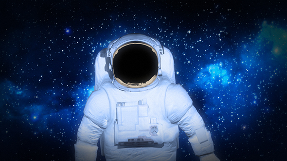 Astronaut In Outer Space - Space Taustat Motion Graphics